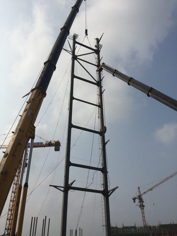 济南北部生物质热电联产锅炉项目顺利完成吊装